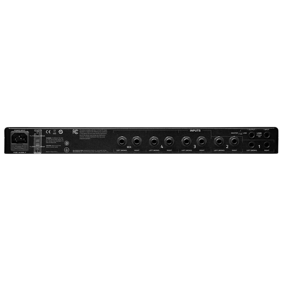 HP6E - Black - 6-channel matrix headphone amplifier - Back