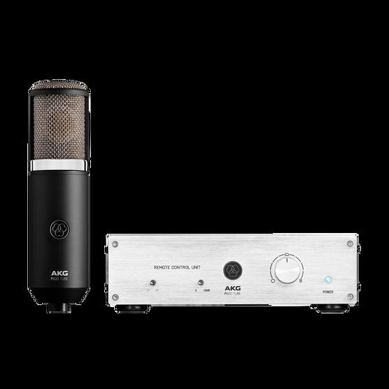 P820 Tube - Black - High-performance dual-capsule tube microphone - Hero