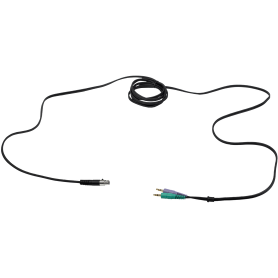 """MK HS MiniJack - Black - Detachable cable for AKG HSC headsets with two 3.5mm (1/8"""") stereo mini jacks - Hero"""