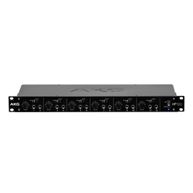HP12U - Black - 12-Channel Headphone Amplifier with USB - Hero