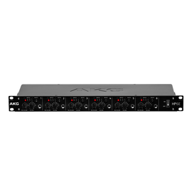 HP6E - Black - 6-channel matrix headphone amplifier - Hero