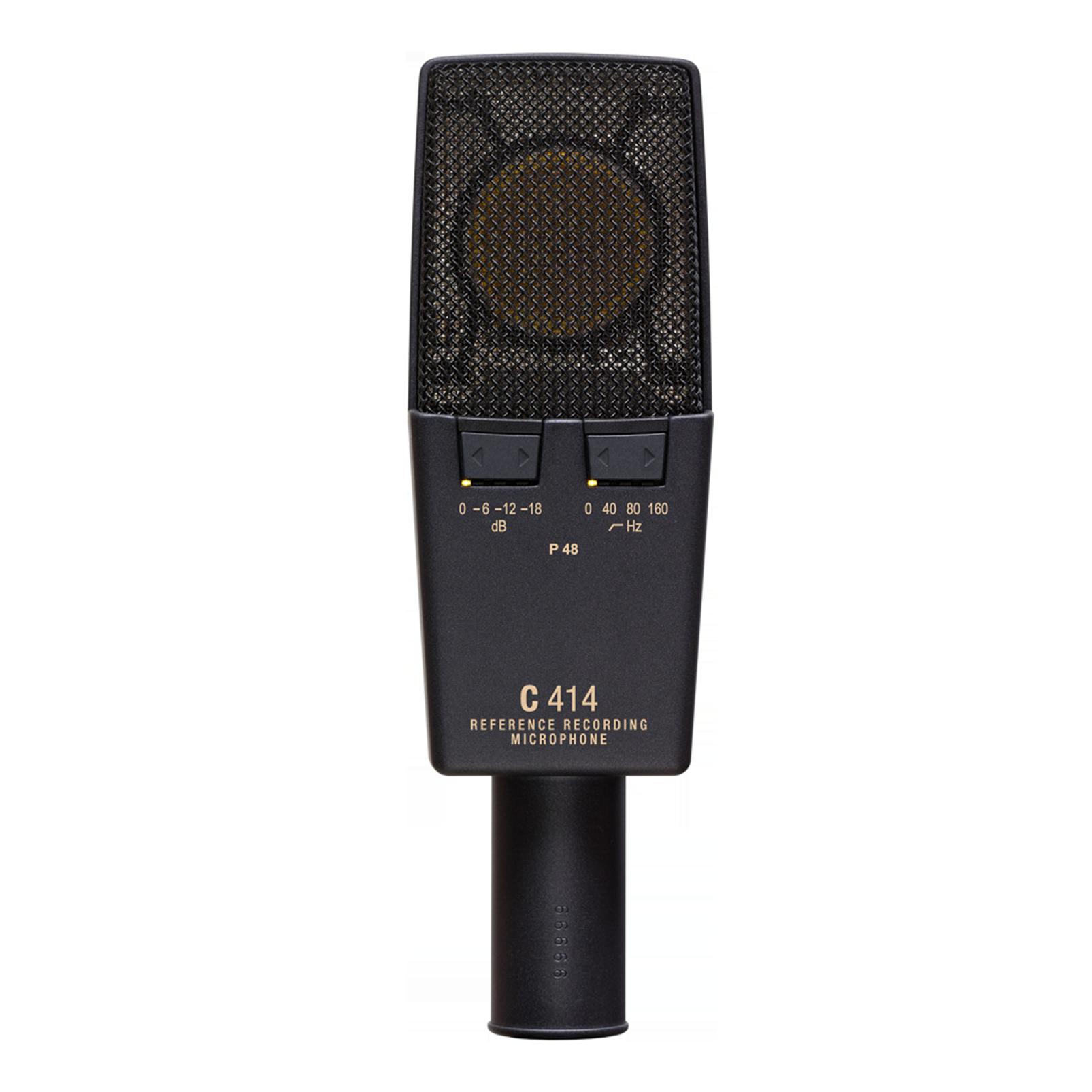 C414 XLII - Black - Reference multipattern condenser microphone - Back