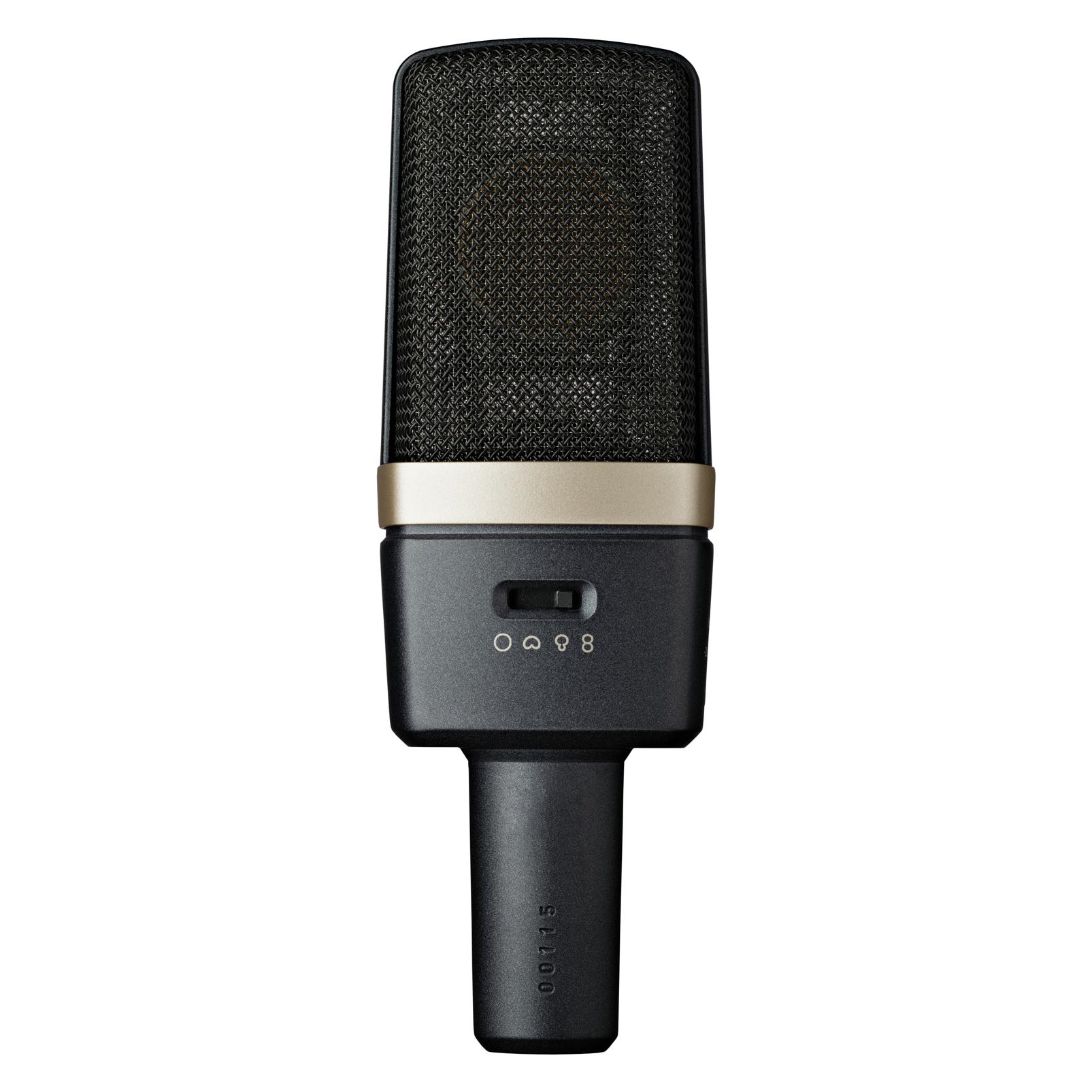 C314 - Black - Professional multi-pattern condenser microphone - Back